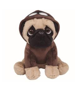 Pelúcia Buba Toys Cachorro Pug Aviador - 08253