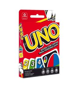 Jogo UNO Copag com 3 cartas para personalizar