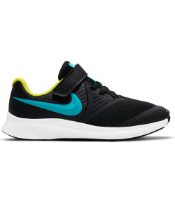 Tênis Nike Star Runner 2 (PSV) Preto e Azul