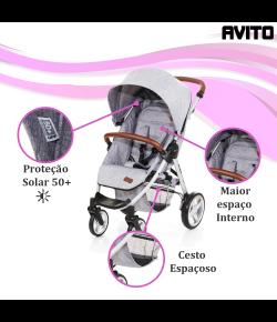 Carrinho de Bebê Avito Graphite ABC Design 51075