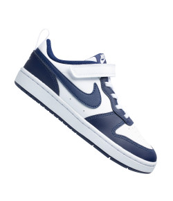 Tênis Nike Court Borough Low 2 (GS) Branco e Azul