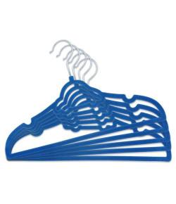Kit Infantil 5 Cabides Aveludados Clingo Carrinho Azul Escuro - C0005