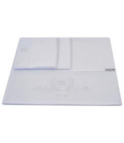 Lençol de Berço Lala Lipe Clássico Branco 3 Peças - LBT1037