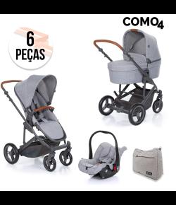 Carrinho de Bebê Travel System ABC Design Como 4 + Moisés Graphite Grey