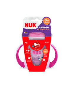 Copo de Treinamento Nuk Mini Magic Cup 360° com Alça 160ml 8m+ Girl PA7639-1G Cachorro Lilás