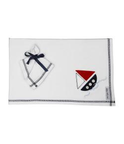 Kit Cueiro + Pano de Boca Lala Lipe Naval Marinho - CFM8088