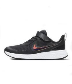 Tênis Infantil Revolution 5 Power Nike Preto e Roxo
