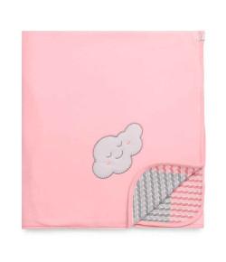 Manta Soft Hug Pedacinho do Céu Rosa