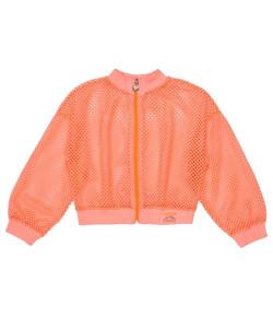 Jaqueta de Tela Laranja Neon Momi