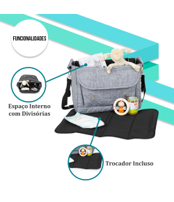 Bolsa Maternidade ABC Design Fashion Bag Graphite Grey - 91300701