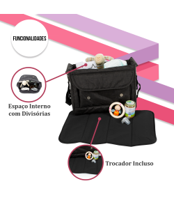 Bolsa Maternidade ABC Design Fashion Bag Piano