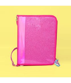 Fichário Puket Unicórnio Glitter Pink - 050401669