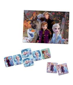 Kit Toyster Frozen: Quebra-Cabeça + Jogo da Memória + Dominó
