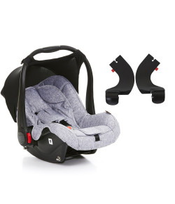 Bebê Conforto ABC Design Risus Graphite Grey + Adaptador Para Carrinho Mint