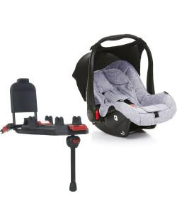 Bebê Conforto ABC Design Risus Graphite Grey + Base Isofix (Sem Adaptadores)