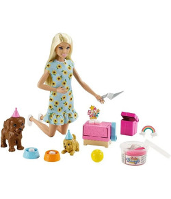Barbie Festa do Filhote com Cachorrinhos Vestido Girassol 3+