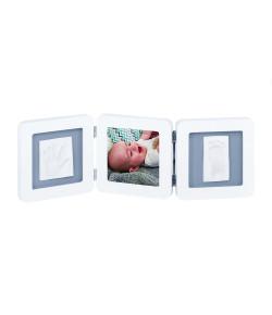 Porta-Retratos Triplo Baby Art My Baby Touch White e Grey - IMP91439