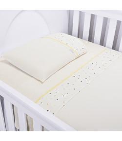 Jogo de Lençol Para Berço Batistela Baby Triângulo Colorido 3 Peças - 02035