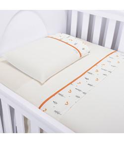Jogo de Lençol Para Berço Batistela Baby Raposa 3 Peças - 02035