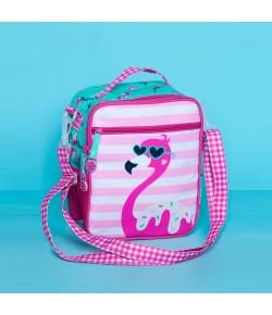 Lancheira Escolar Puket Flamingo com Alça Verde Água - 050401410