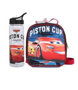 Kit Escolar Lancheira + Garrafa Dermiwil Carros Piston Cup (51812+51813)