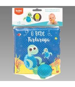 Kit Livrinho de Banho Tartaruguinha Buba 7495