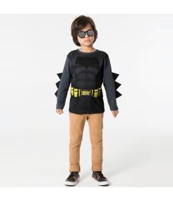Camiseta Manga Longa Marlan Batman Grafite INV19 - M2080