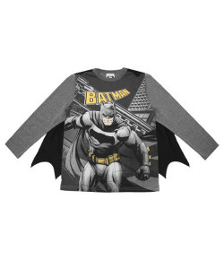 Camiseta com Capa Manga Longa Marlan Batman Grafite INV19 - M2081