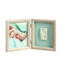 Porta-Retratos Baby Art My Baby Touch Duplo de Madeira Stormy - IMP91432