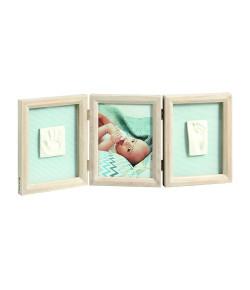 Porta-Retratos Baby Art My Baby Touch Triplo de Madeira - IMP91436