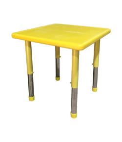 Mesa Infantil Plástico Ajustável 60 X 60 X 56cm Amarelo