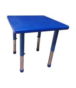 Mesa Infantil Plastico Altura Ajustavel 60 X 60 X 56cm Azul
