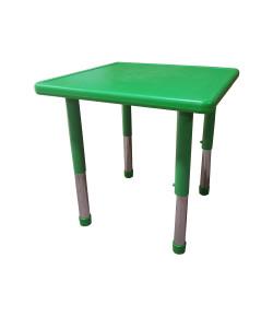Mesa Infantil Plástico Altura Ajustável 60 X 60 X 56cm Verde