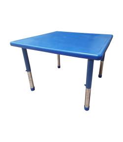 Mesa Infantil Plástico Altura Ajustável 88 X 88 X 56 Cm Azul