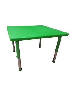 Mesa Infantil Plástico Altura Ajustável 88 X 88 X 56 Cm Verde