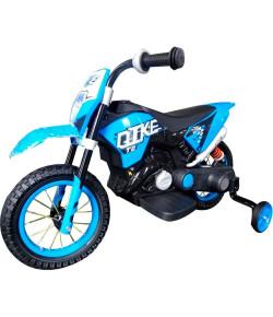 Mini Moto Cross Elétrica Azul