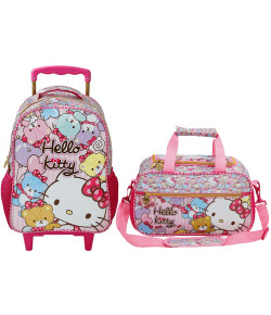 Kit Escolar Mochilete 14 + Sacola Hello Kitty Tiny Bears (7861+7867)