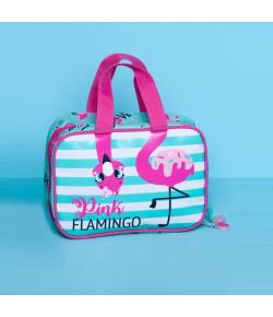 Necessaire Maleta Puket Flamingo Verde Água - 050401411