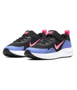 Tênis Infantil Nike Wearallday (PS) Preto e Lílas V21 CJ3817 009
