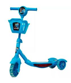 Patinete Infantil 3 Rodas com Cesta Azul