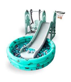 Playground Infantil 4x1 C/ Piscina de Bolinhas Verde