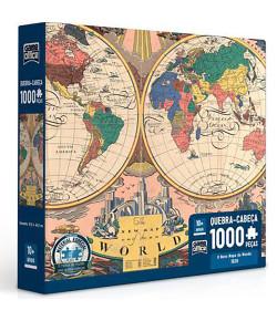 Quebra-Cabeça Toyster Mapa do Mundo 1000 Peças 10+
