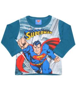 Camiseta Manga Longa Superman Marlan Verde INV19 - S2063