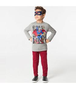 Camiseta Manga Longa Superman com Máscara Marlan INV19 - S2066