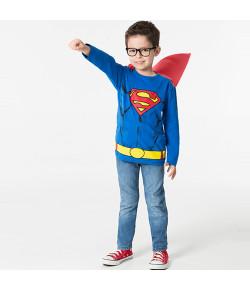 Camiseta Manga Longa Superman com Capa Marlan INV19 - S2067
