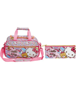 Kit Escolar Sacola + Estojo Hello Kitty Tiny Bears (7866+7867)