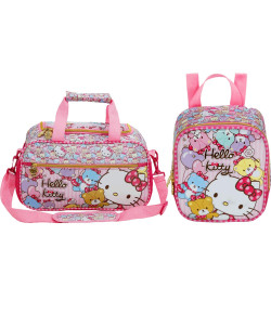 Kit Escolar Sacola + Lancheira Hello Kitty Tiny Bears (7864+7867)