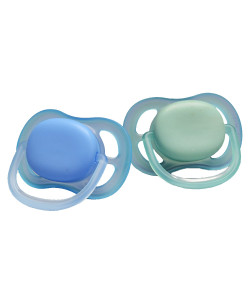 Kit 2 Chupetas Avent Ultra Air Lisa Tam. 1 0-6M Azul/Verde - SCF244/20