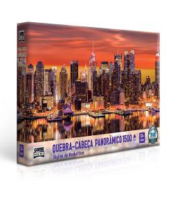 Quebra-Cabeça Toyster Panorâmico Skyline de Manhattan 1500 Peças 12+