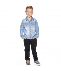 CONJUNTO CAMISA CL LITLLE BALL PLANET KIDS PT/JEANS